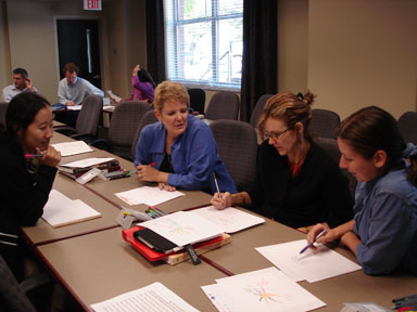 Jamie Working With MTSU Faculty